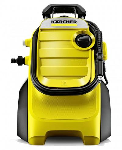 Idropulitrice Kärcher K 4 Compact con motore raffreddato ad acqua, estremamente potente, compatta e facilmente trasportabile, ideale per la pulizia di mobili da giardino, terrazzi, balconi, la moto e l'auto
